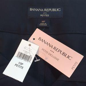 Banana Republic navy skirt, petite 10, NEW w/ tags